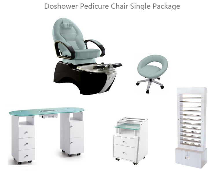 Best Deals Pedicure Spa Chair and Manicure Table Set Manufacturer Nail Salon Package DS-8004 SET