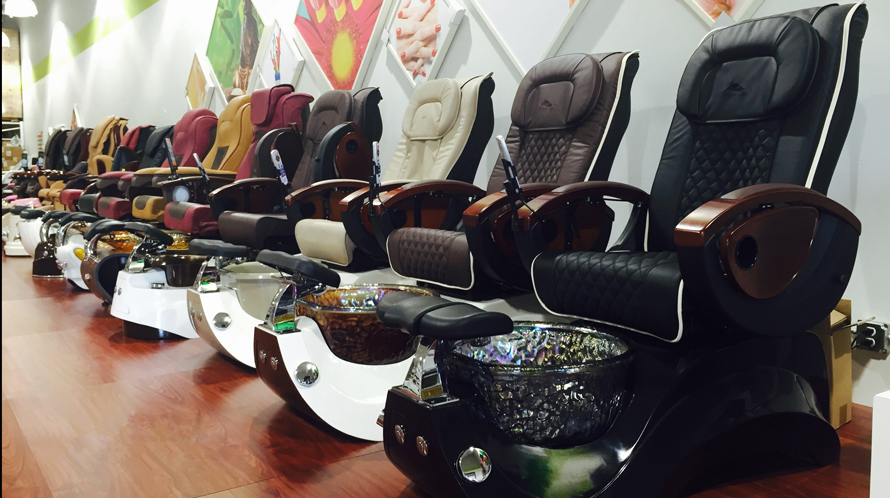 Pedicure chair wholesale with nail salon spa massage chair of pedicure spa chair 2018 luxury