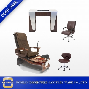 China wholesale nail salon spa pedicure station pedicure chair nail table of beauty nail salon furniture DS-W21