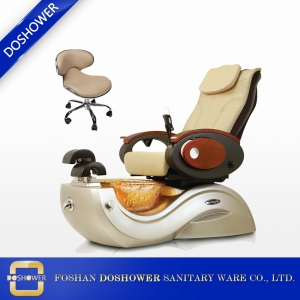Massage Pedicure Spas chair of glass bowls with multicolor LED lighting for nail salon