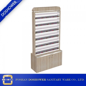 Nail polish and powder cabinet of nail salon wooden nail polish display shelf china suppliers DS-P14