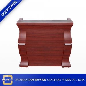 Spa used wood design hotel tufted receptionist modern front beauty salon office