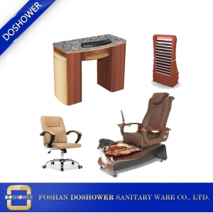 Whirlpool Nail Spa Salon Pedicure Chair with nail table factory china for oem pedicure spa chair in china / DS-W2A-SET