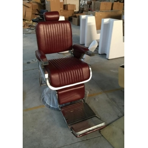 White Elegance Barber Chair With Hydraulic Pump Base