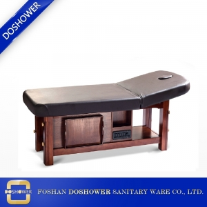 Wooden frame massage bed Spa beauty facial bed with good price