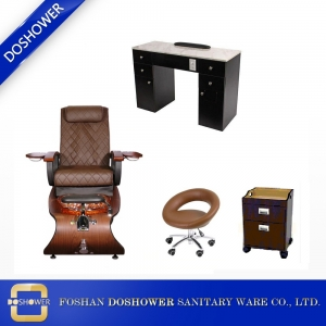china manufacturer foot massage chair for nail and beauty salon pedicure and manicure station DS-W21 SET
