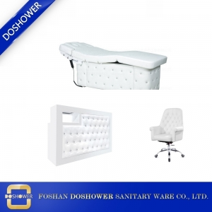 china massage table package salon multi function massage bed white leather spa bed wholesale DS-M04 SET