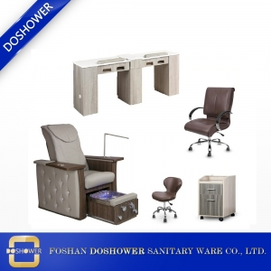 china spa pedicure chair manufacturer with manicure table supplies of wholeset salon package on sale DS-N04 SET