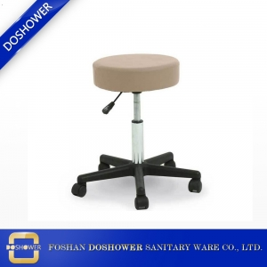 cream round nail salon chairs leather covers round bar stool