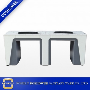 double nail table with ventilation white verona double nail table DS-N2040