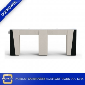 double vented manicure table with granite nail table top of exhausted fan nail table DS-N2002