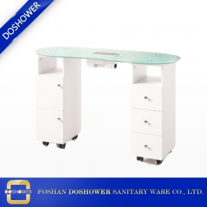 glass manicure table and manicure table with dust collector