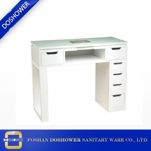 glass top work surface white manicure table beautiful china made nail table manufacturer