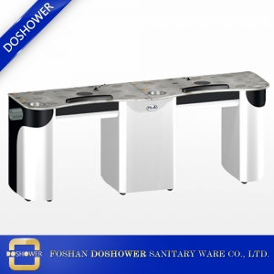 manicure tables nail bar station nail table with pipe for double air vent nail table wholesale china DS-N2047