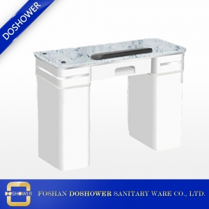 nail manicure table with exhaust pipe nail table fan marble top nail table manufacture china DS-N2004