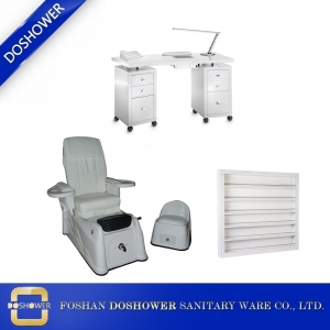 nail salon package pedicure chair supplies pedicure chair ad nail table wholesale china DS-8018 SET