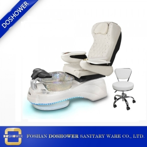 new design pedicure chair luxury pearl white spa pedicure chair with massage DS-W1901