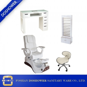 pedicure spa chair suppliers and manufacturers China wholesale pipeless massage chair with glass bowl DS-S19 SET