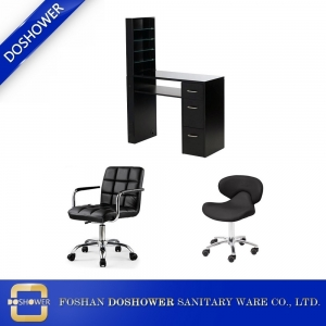 spa salon black manicure table and chair for nail salon furniture wholesaler and manufacturer china DS-W1752 SET