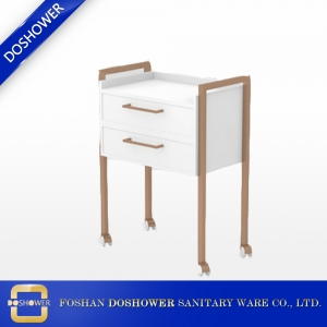 white two drawer chest wood look spa trolley for sale DS-TR3