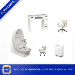 wholesale egg spa pedicure chair station with nail table salon furniture for sale