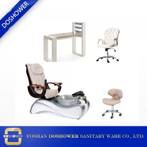 wholesale nail salon furniture with manicure table spa salon pedicure chair for sale DS-S15A SET