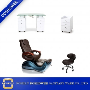 wholesale spa pedicure chairs luxury nail spa pedicure chair nail table set DS-S17A SET