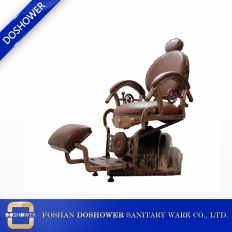 China 2018 wooden reclining hydraulic barber chair classic style hair salon furniture factory