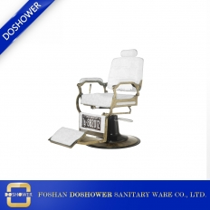 China Barber Chair Salon With White Gold Barber Chair for Luxury Barber Chair factory