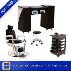 China Barber chair manufacturer in china with facial bed wholesale china for manicure chair supplier china / DS-T250-SET factory