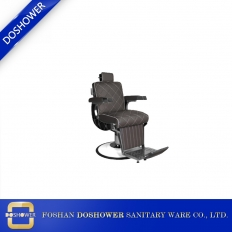 China Barber machine set hair cutting with brown salon chair set barber for chair barber occasion factory