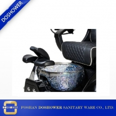 China Beauty Spa Pedicure Black Pedicure Fiberglass Sink Wholesale Nail Salon Equipment DS-T3 factory