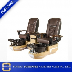 China Best price double pedicure chair new nail spa salon chairs of pedicure station factory