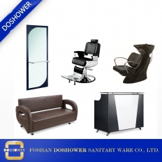 China Black Hair Styling Station Salon Package Complete Package Salon Chair factory