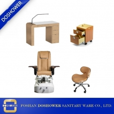 China Cheap Massage Pedicure Chair with Nail Table Beauty Salon Furniture Package Wholesale DS-L1902 SET factory