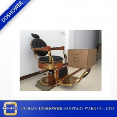 China Doshower vintage barber chair for sale with old school style hairdressing chair for hair salon factory