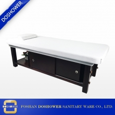 Leather wooden beauty spa salon massage bed tables with storage cabinet DS-M9002