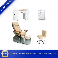China Modern Pedicure Chair and Manicure Table Set Hot Salon Nail Spa Furniture DS-4005 SET factory