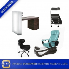 China Nail Client Chair Wholesale with manicure pedicure chair china for pedicure chair no plumbing china / DS-W18158F-SET factory