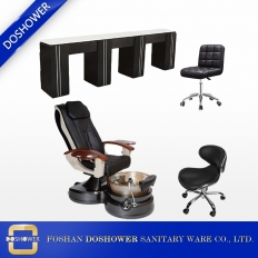 China Nail Furniture Supply Nail Bar Manicure Table Pedicure Chair Package China DS-L4004B SET factory