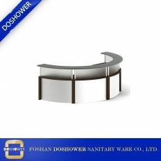 China Modern reception desk with curved reception desk reception desk factory