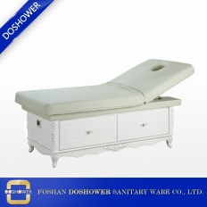 China Solid Wood Massage Bed with Storage Heavy Duty Facial Bed of Massage Bed For Sale China DS-M9001 factory