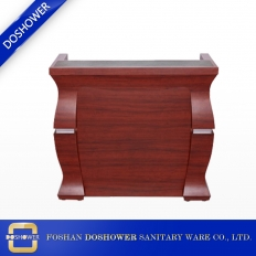 China Spa used wood design hotel tufted receptionist modern front beauty salon office factory