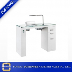 China White Manicure Table For Salon With  Nail Dust Collectors Wholesale Manicure Tables factory