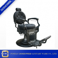 China Wholesale Barber Chair Grey PU leather heavy-duty vintage reclining chair factory