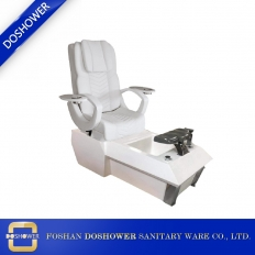 China Wholesale White Pedicure Chair Luxury China Nail Salon Foot Spa Pedicure Chair Manufacturer DS-W1900B factory