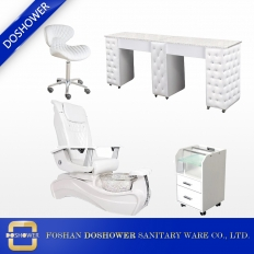 China Wholesale salon manicure pedicure chair with manicure table nail desk reception china W88C SET factory