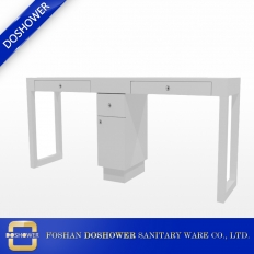 China cheap nail salon table with modern white double manicure table cheap nail table factory