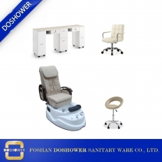 China cheaper pedicure spa chair with nail salon manicure table cheap pedicure chair furniture for sale DS-3 SET factory