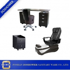 China china Pedicure Chair with manicure chair supplier china for pedicure foot massage chair factory / DS-W18158C-SET factory